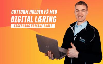 Guttorm forteller om gaming & digital læring på Fagerhaug